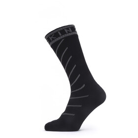 Sealskinz Waterproof Warm Weather Mid Socks with Hydrostop Black/Grey